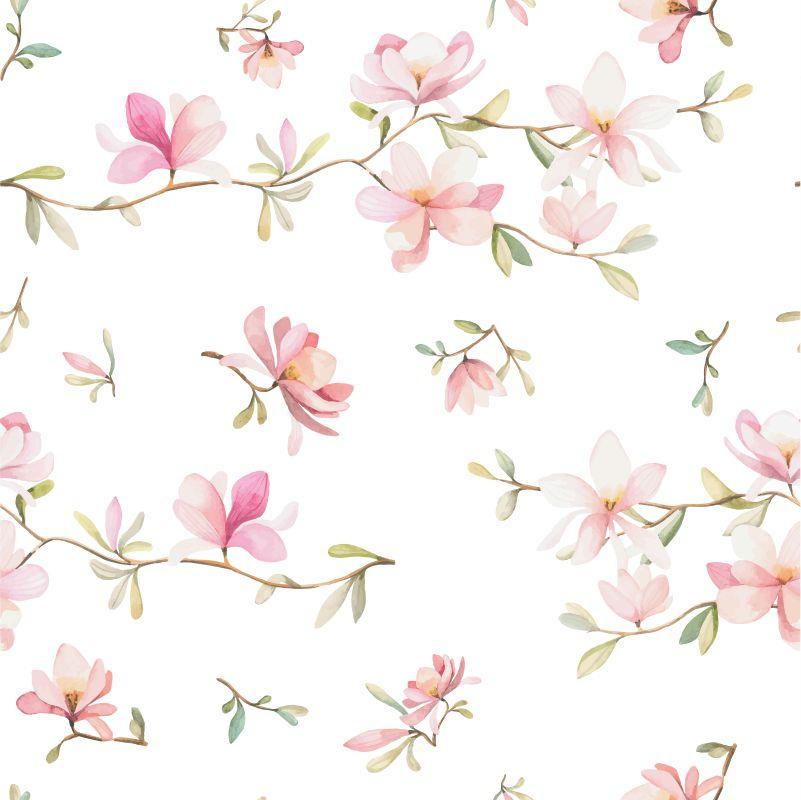 Papel-de-Parede-Floral-Cerejeira