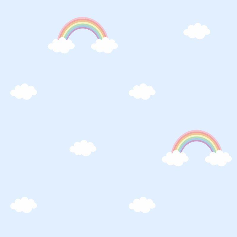 Papel-de-Parede-Baby-Arco-Iris-fundo-Azul