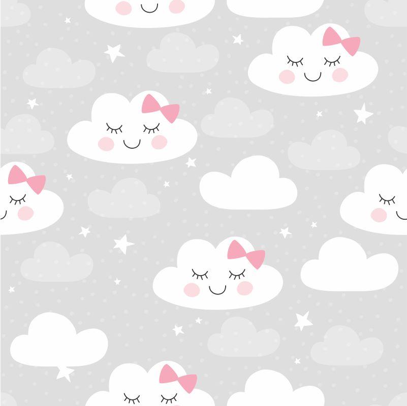 Papel-de-Parede-Baby-Nuvens-Cute-fundo-Cinza