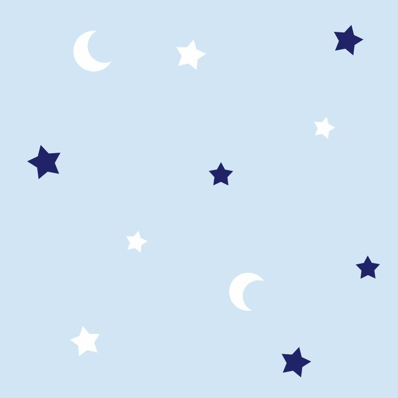 Papel-de-Parede-Baby-Lua-e-Estrelas-fundo-Azul