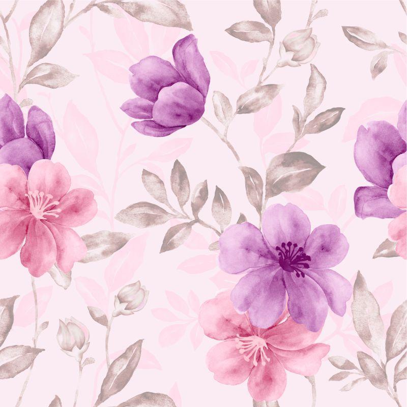 Papel de Parede Floral Olívia