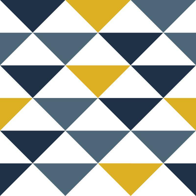Papel de Parede Geométrico Triângulos Zyrae