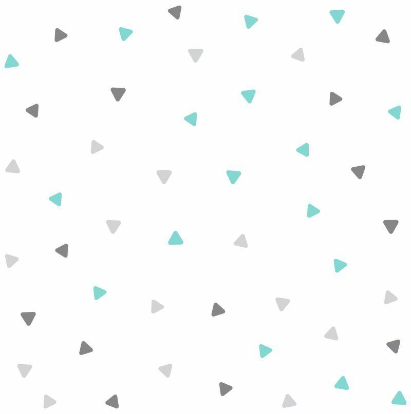 Papel de Parede Geométrico Triângulos Aquary