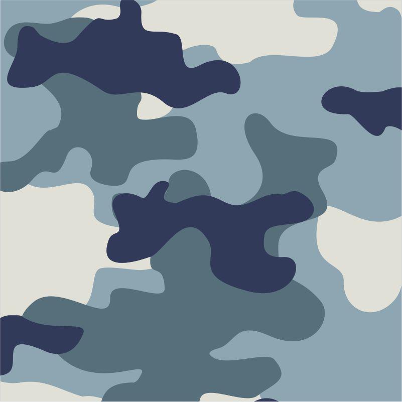 Papel de Parede Camuflado em tons de Azul