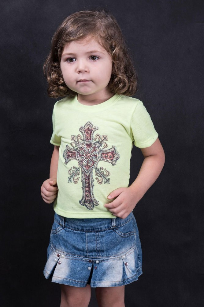 T-Shirt Miss Country Infantil Metalic Cross 328 - Vitrine do Cowboy ... 44cc7fc3594