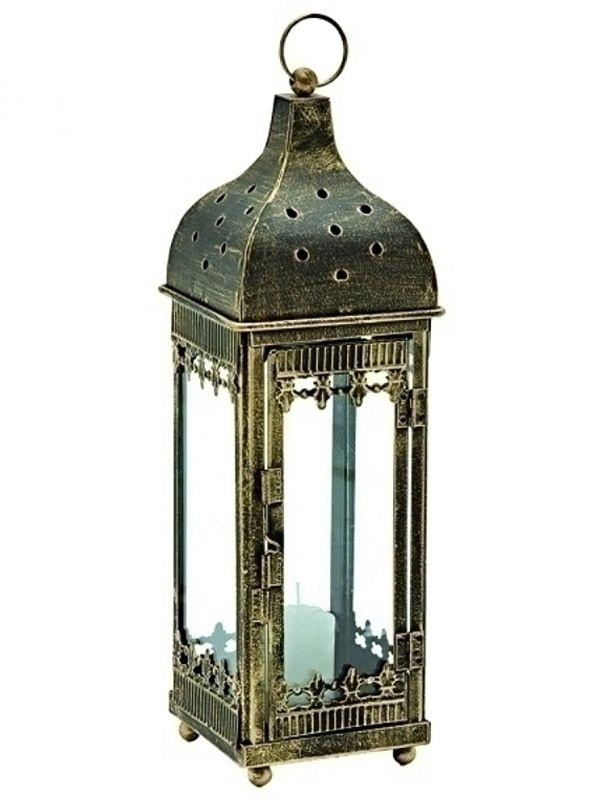 Lanterna marroquina r stica p decora o com velas 24cm - Redes de pesca decorativas ...