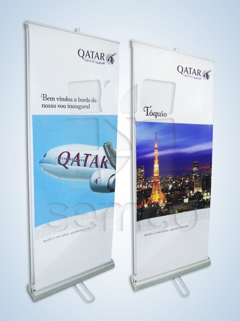 4eb37701f0f Porta Banner Rollup - 80 x 200 Duplo - SEMCO Displays - Porta ...