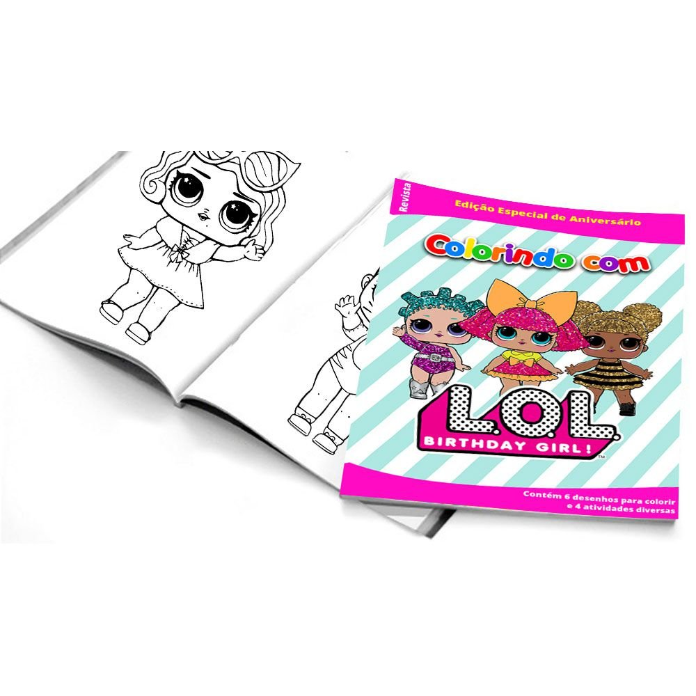 5 Cadernos De Colorir Lol Surprise Empório Das