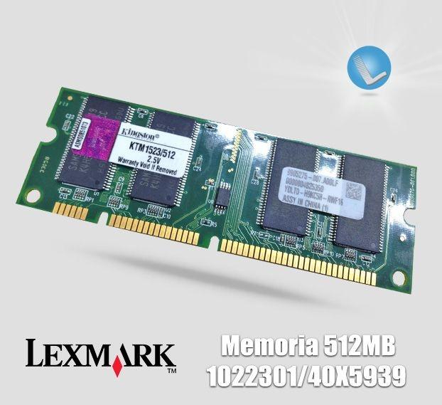 Memoria Lexmark 512mb Lexmark 40x5939 Lservice Pe 231 As E