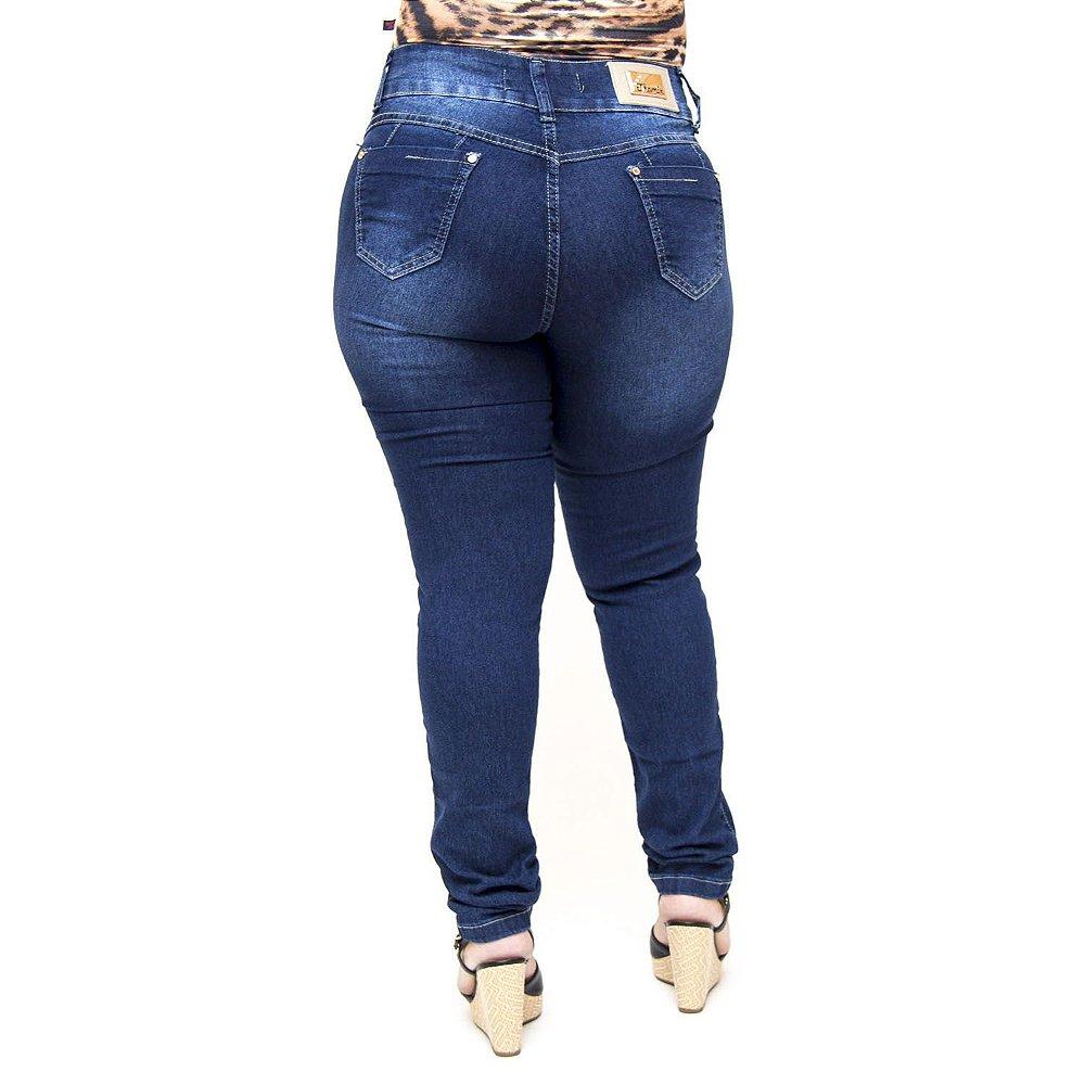 6b8b7305909f97 Calça Jeans Plus Size Preta Cintura Alta Thomix Elenilda - Andando ...