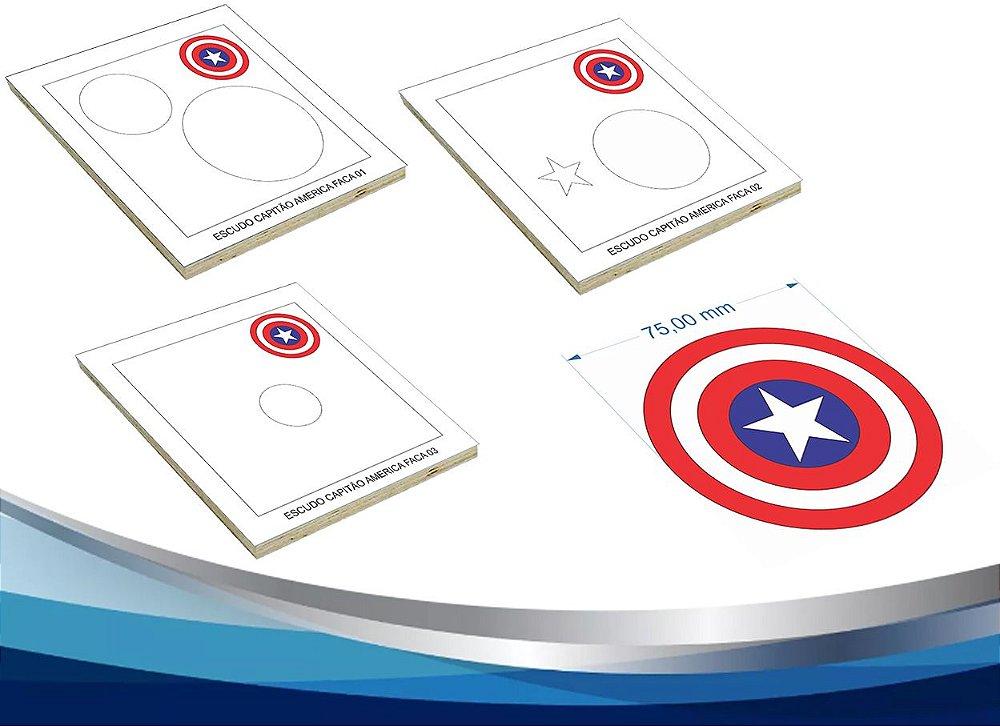 Eva 017 Escudo Capitao America 7 5cm G2 Artes Facas Corte E