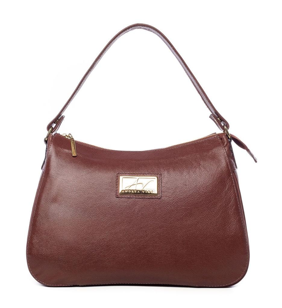 0ba87855a Bolsa Belle em couro legítimo pinhão - Enluaze | Bolsas e acessórios ...