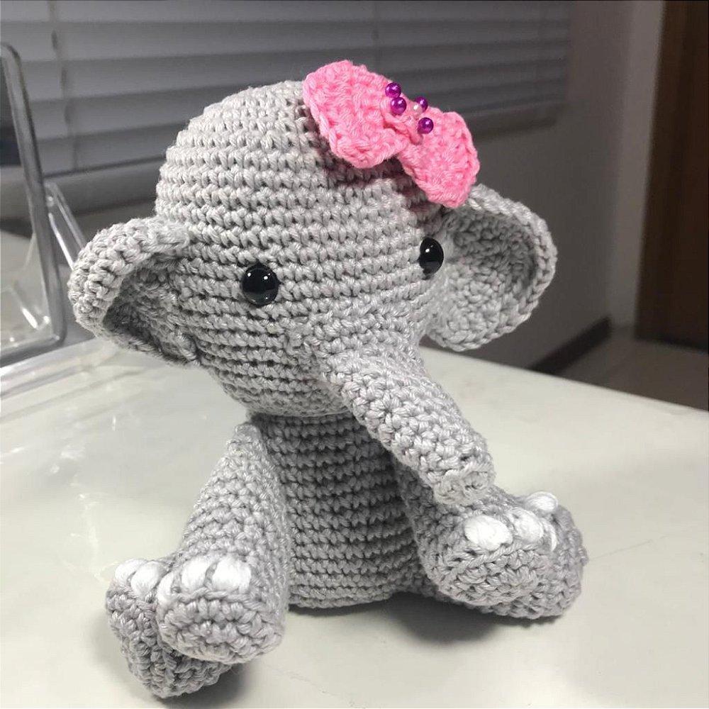 Amigurumi - Elefante Grande no Elo7   Floquinho Ateliê (B75D40)   1000x1000