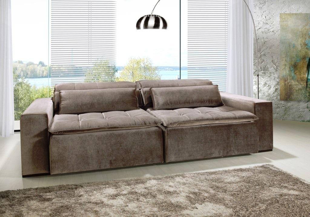 Sof retr til reclin vel di qualit antares eliving loja for Sofas articulados modelos