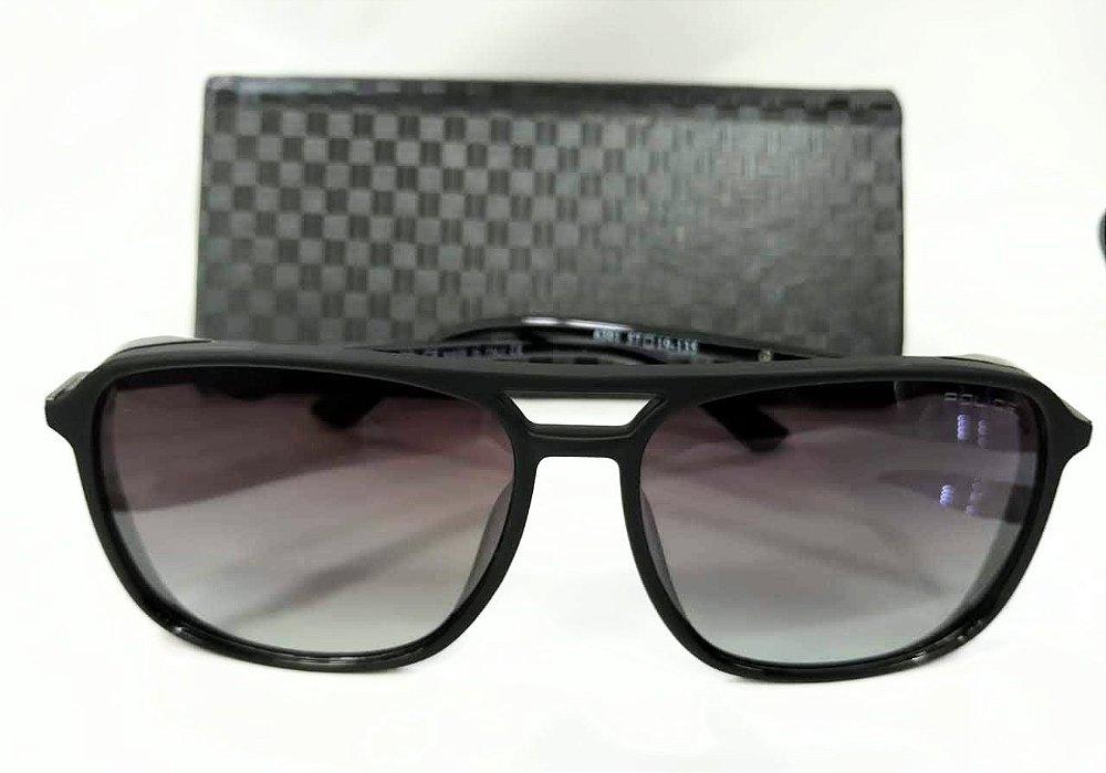 e1efdf2471f5d Óculos de Sol Police Drive 1 (SPL-720 06AA) Preto fosco - Cinza lentes  Gradientes