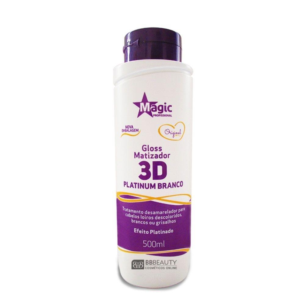 88388372e MAGIC COLOR 3D PLATINUM BRANCO - EFEITO PLATINADO - 500ML - Mulher ...