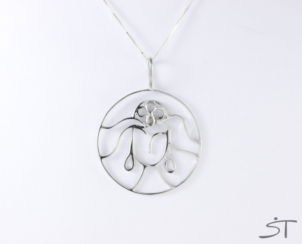 9575717abd0 Pingente Mandala de Iemanjá em Prata 950 - Banhado a Ródio. Pingente Mandala  de Iemanjá em Prata 950 - Banhado ...