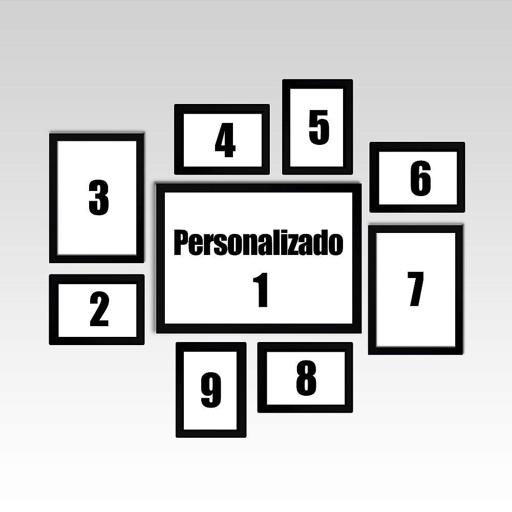 d6410142a Conjunto - 09 Quadros Decorativos Personalizados. Código  A5QQNA4V2.  Conjunto - 09 Quadros Decorativos Personalizados