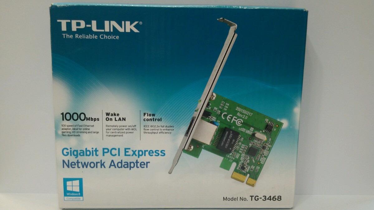 Placa Pci Express Gigabit Tp Link 1000mbs Melhores Cabos Cabo Vga Lan Card Tg 3468 Cdigo 8930109