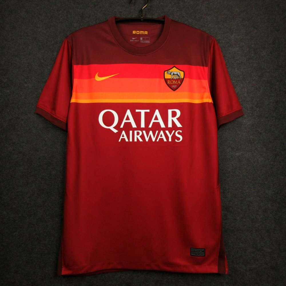 Camisa Roma 2020-21 (Home-Uniforme 1) - Modelo Torcedor - ACERVO DAS CAMISAS