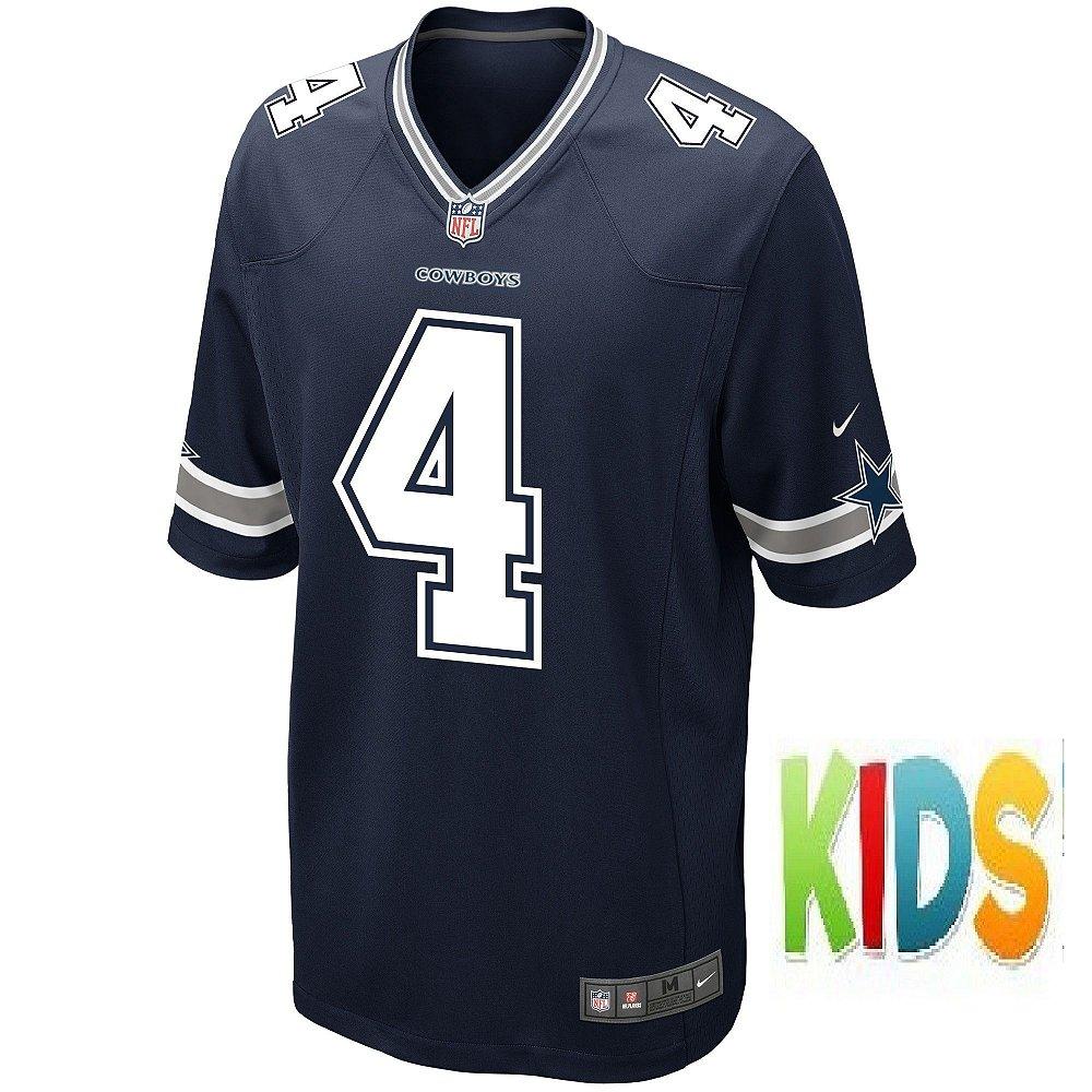 29d3e31e40 Camisa NFL Infantil Dallas Cowboys Futebol Americano  4 Dak Prescott. Camisa  NFL ...