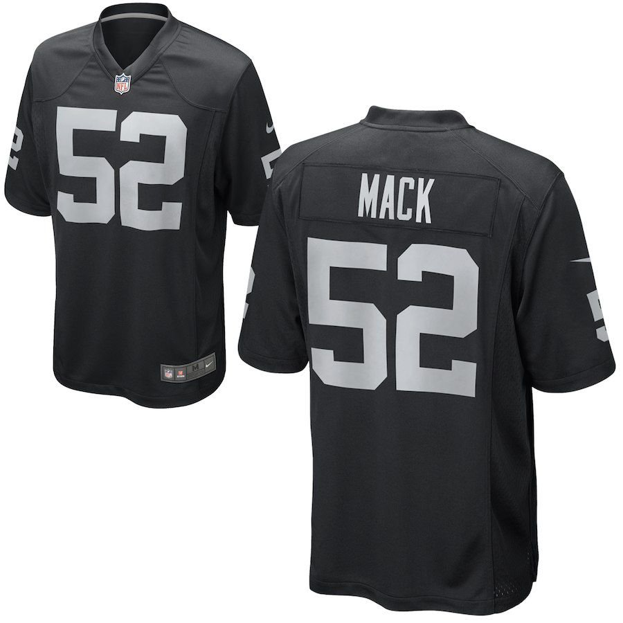 e532c278a Camisa Nfl Oakland Raiders Futebol Americano  52 Mack. Camisa Nfl Oakland  Raiders Futebol ...