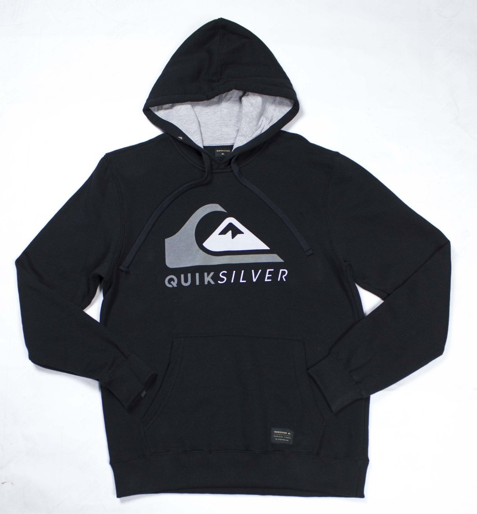 0bae98a3b6b08 Moletom Quiksilver Canguru Fechado Garnet - BLACK - JD Skate Shop