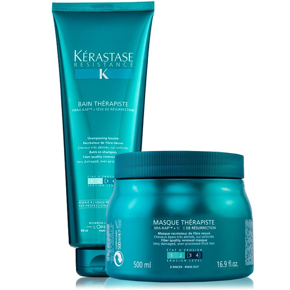 k rastase r sistance therapiste kit bain 450ml masque 500g loja da bela produtos para. Black Bedroom Furniture Sets. Home Design Ideas