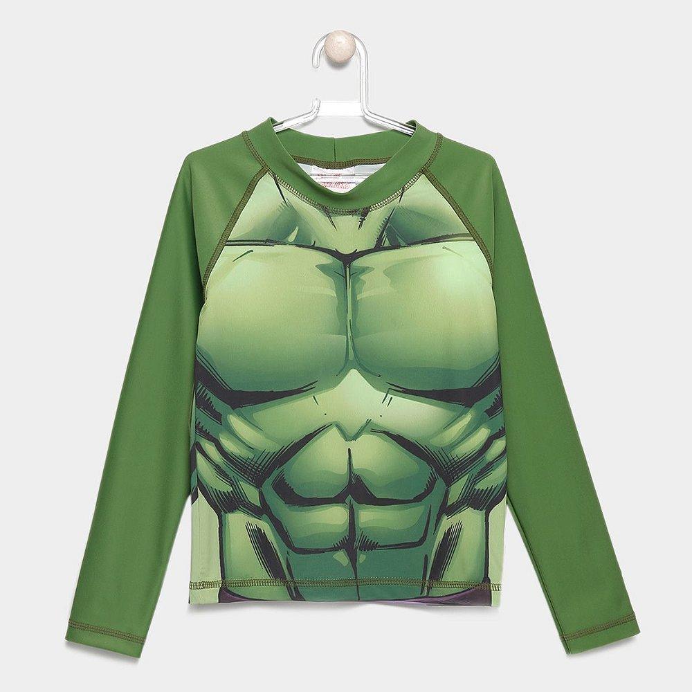 a74377db92 Camiseta Infantil Tip Top Avengers Proteção UV Masculina - Verde-Hulk