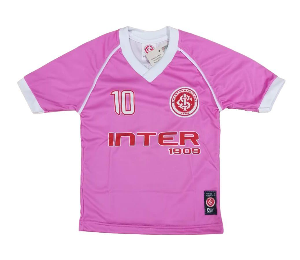 Camisa Infantil Internacional Rosa Dry Oficial Cia Bebe