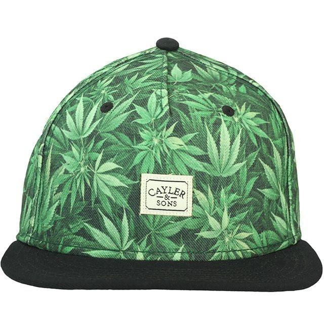 Boné Cayler   Sons Weed Green Snapback. Código  UBLJG3YL3. Boné Cayler   Sons  Weed Green Snapback a7ce67a4d18