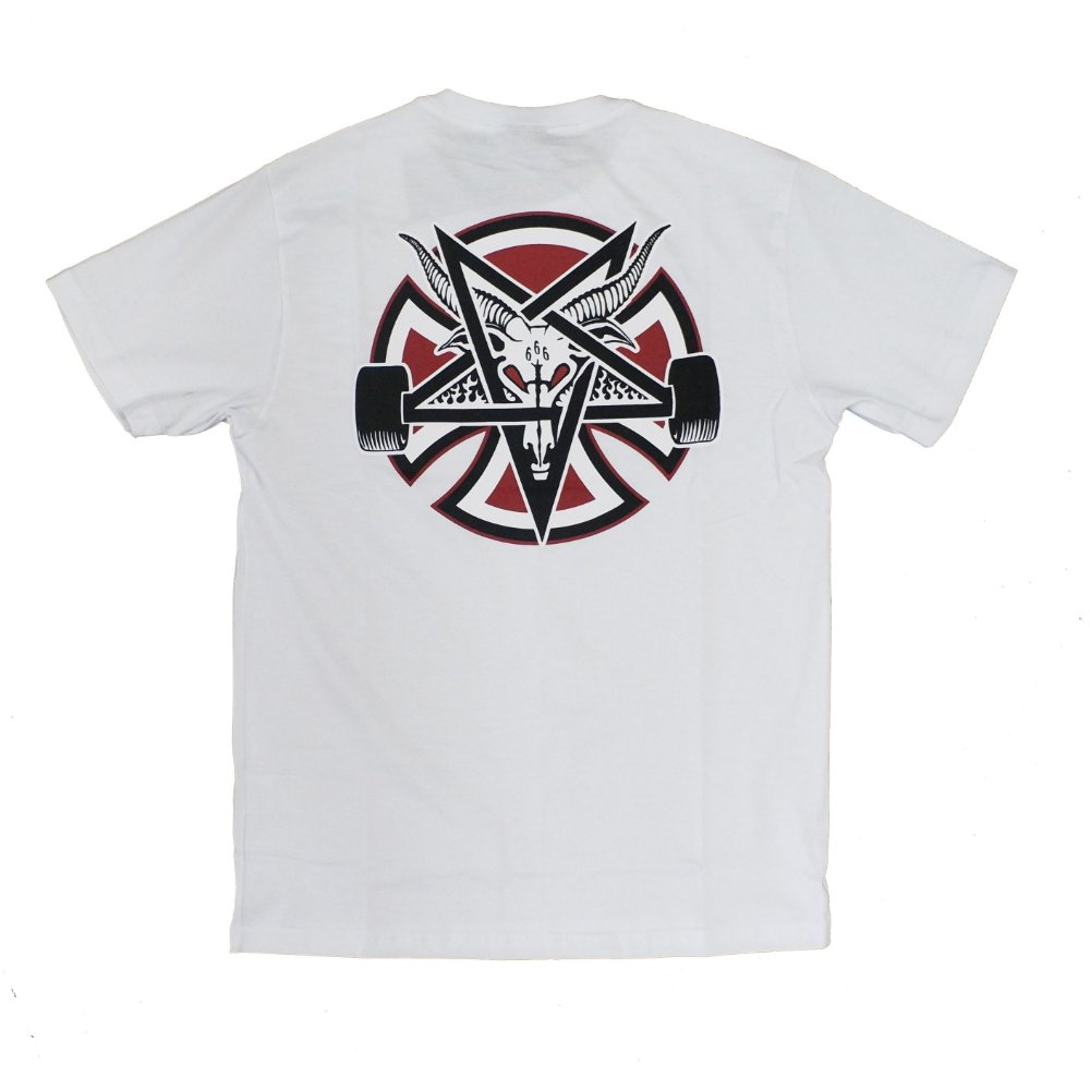 Camiseta Thrasher x Independent Pentagram Cross Branco. Camiseta Thrasher x  Independent Pentagram ... 43765983066