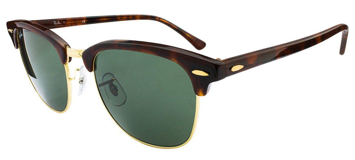 ba4c7a5471c24 Óculos de Sol Ray-Ban Clubmaster RB3016 W366 - Ótica Quartz