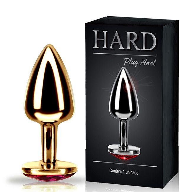 plug anal inox com jóia