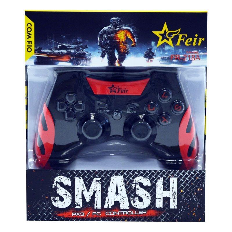 Controle Feir Smash PS3 PC com fio FR-218A