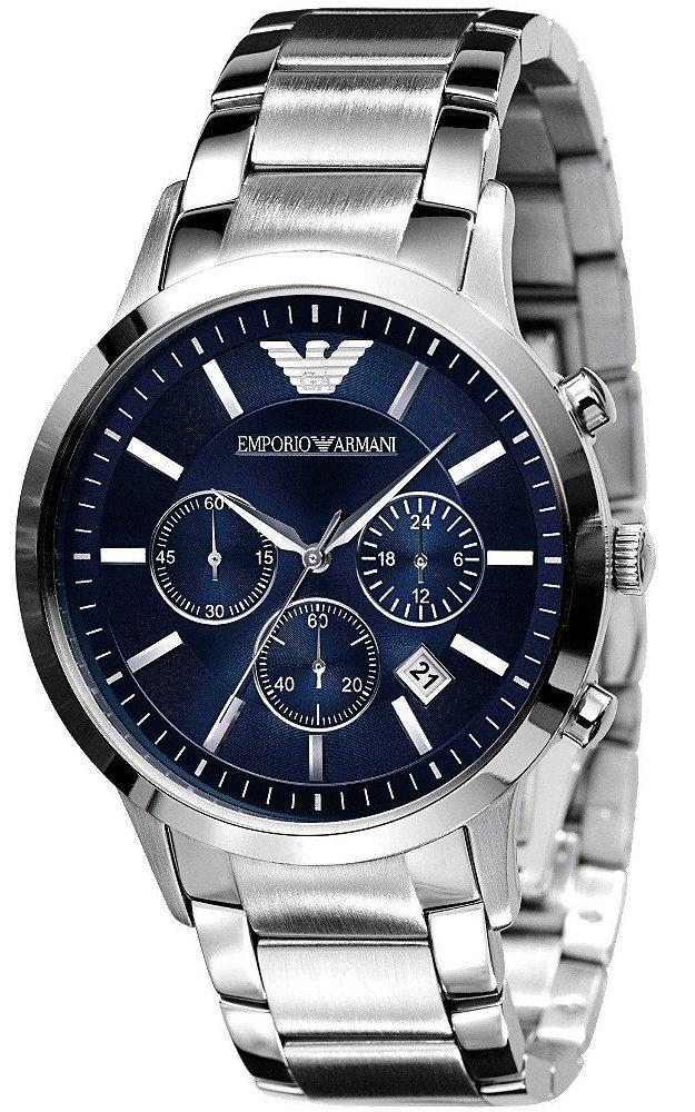 Relógio Empório Armani AR2448 Dial Azul - New Store - A melhor loja ... 5485ea7c38