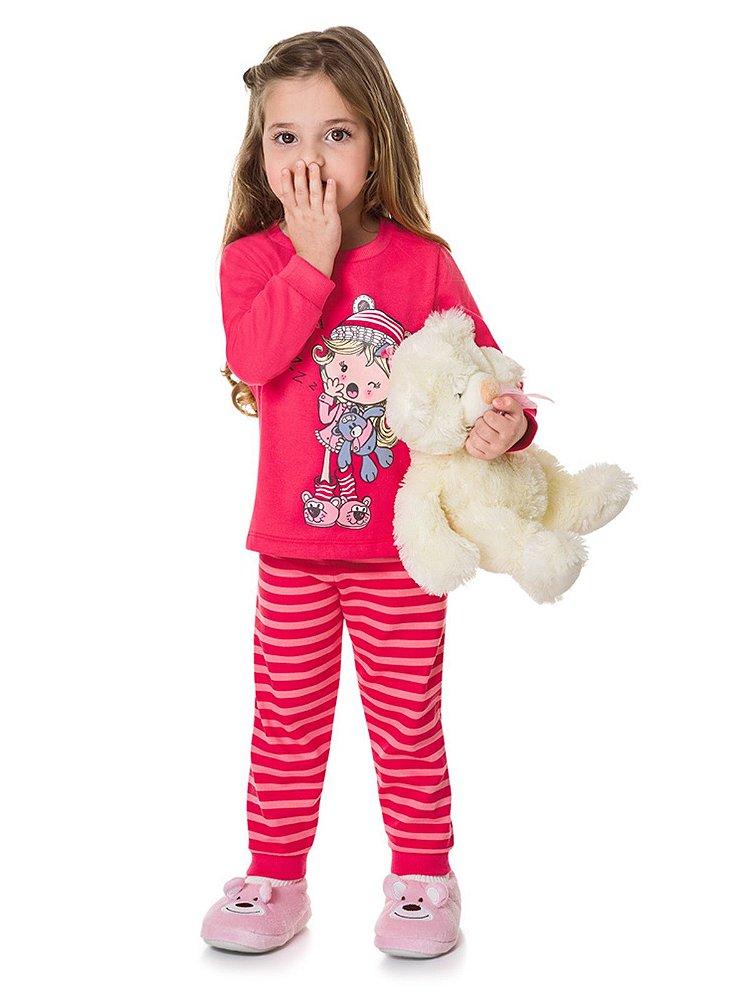 db438f4306 Pijama Blusão e Calça em Moletinho Que Soninho Brandili - Baboobee ...