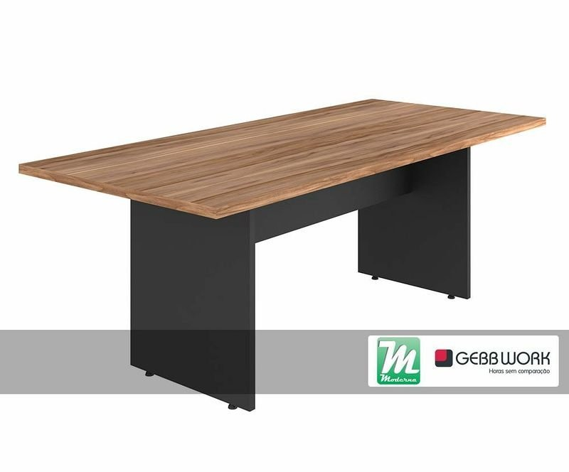 Mesa reuni o retangular yaris gebb work moderna for Mesa escritorio moderna