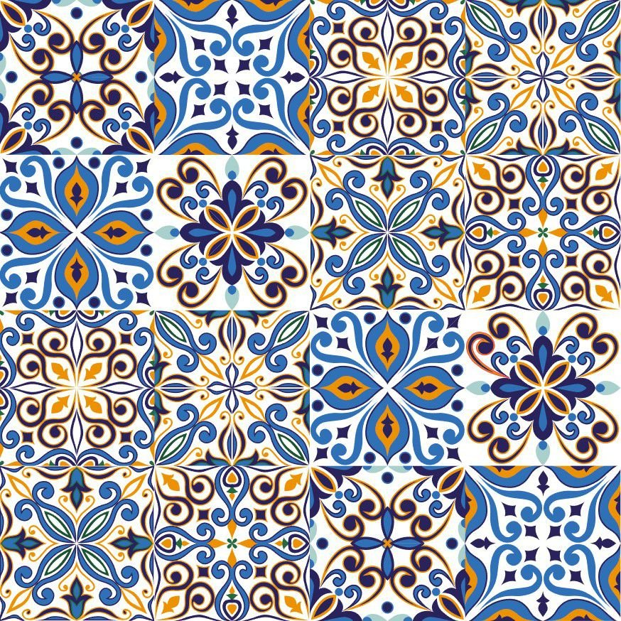 Kit adesivo de azulejo coimbra bem colado adesivos - Azulejo 15x15 ...