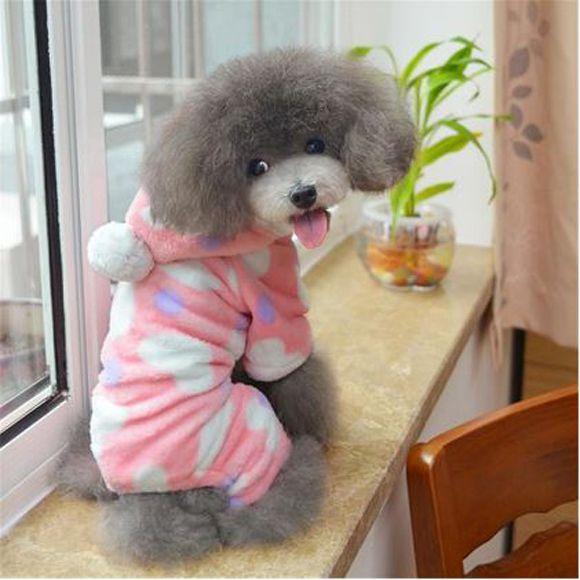 Roupa de cachorro frio macacao