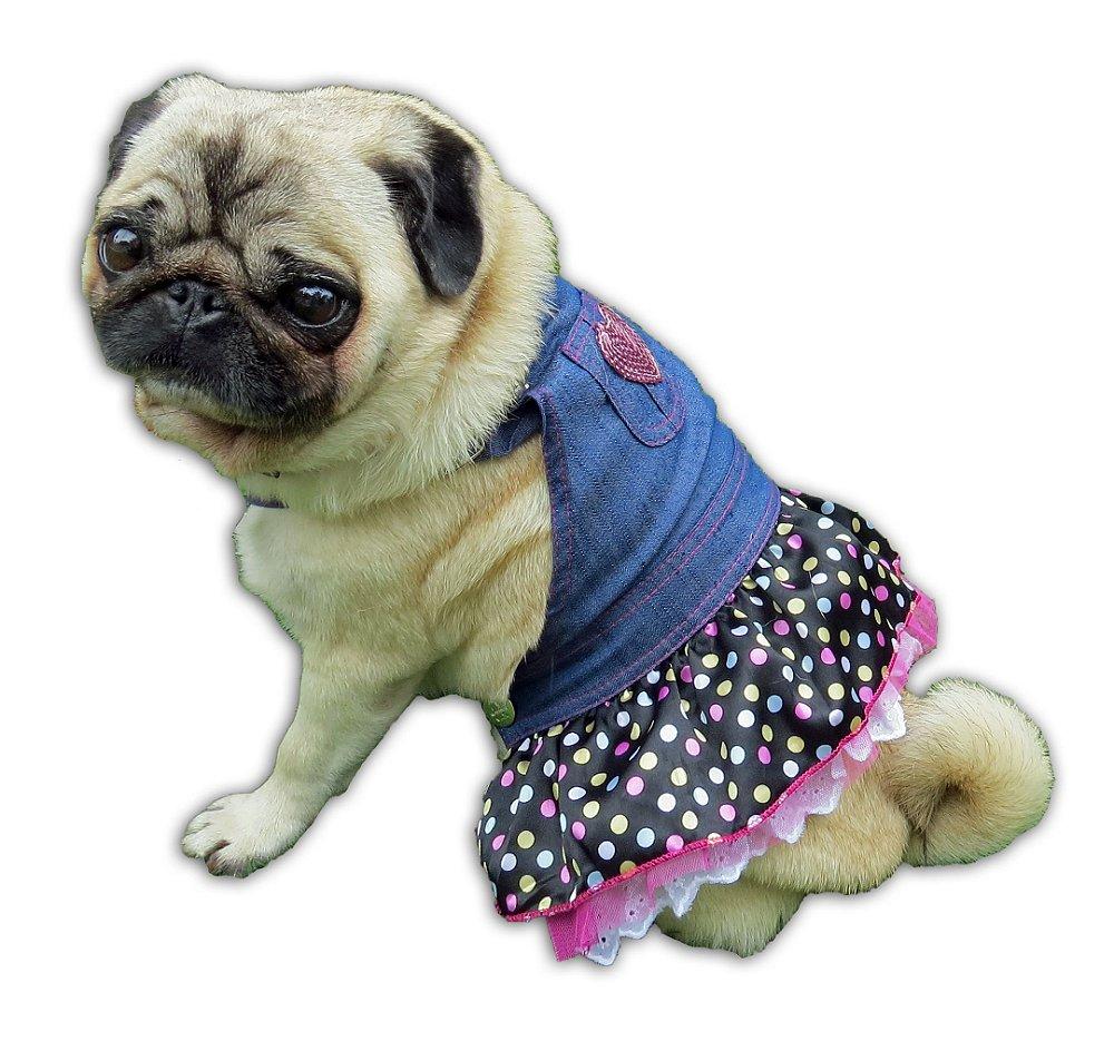 Vestido para cachorro jardineira