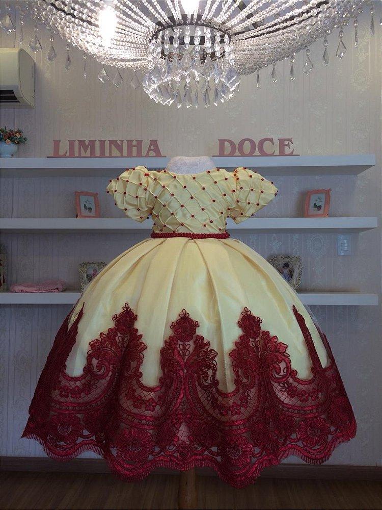 cf16940e61e Vestido Bela e a Fera-vestidos de temas infantil - Liminha Doce ...
