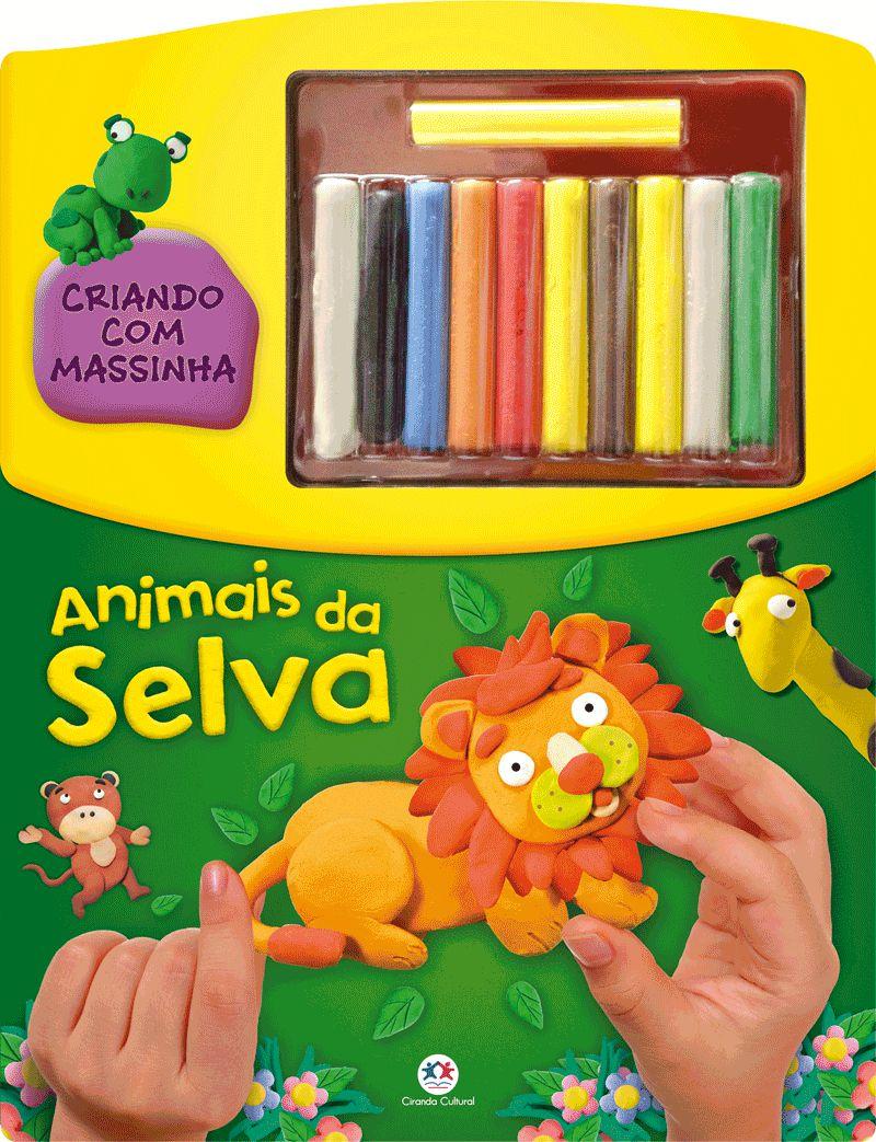 Livro Animais Da Selva - Criando Com Massinha - Jokenpô