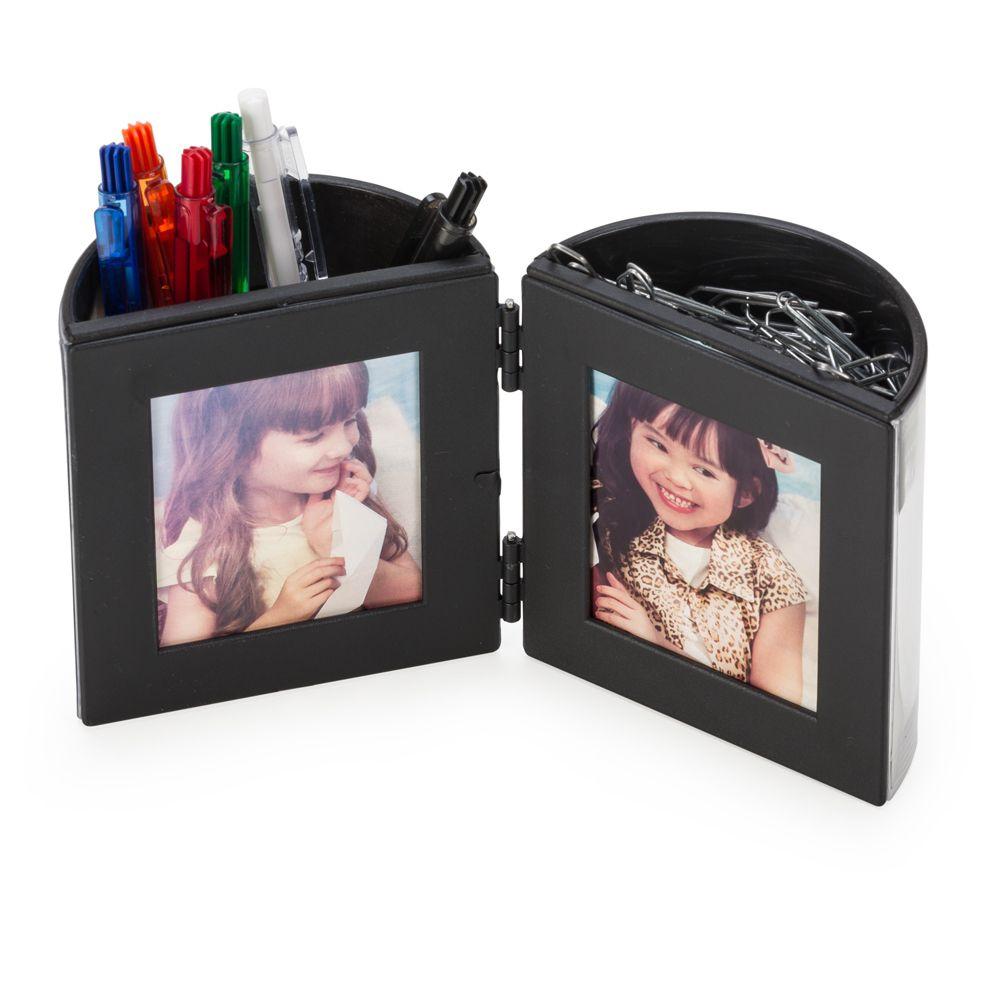 50ba4ef5e Porta caneta com porta fotos e porta clips. - Live Presentes e ...