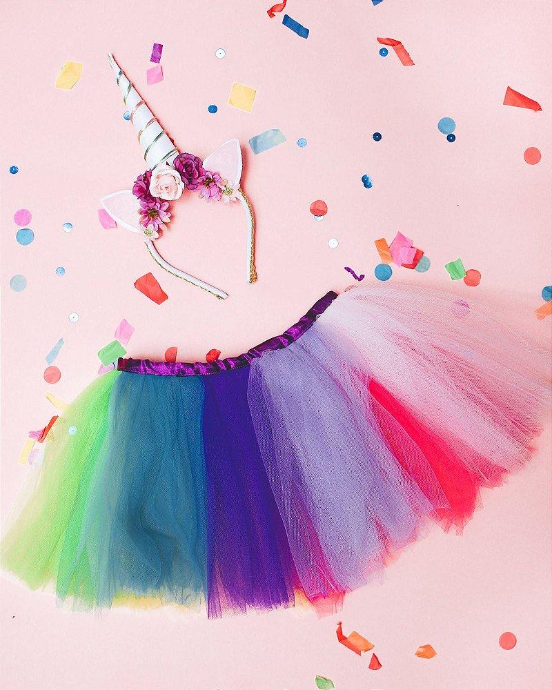 Saia Arco íris Flamingo Em Festa Produtos E Soluções Para Festas