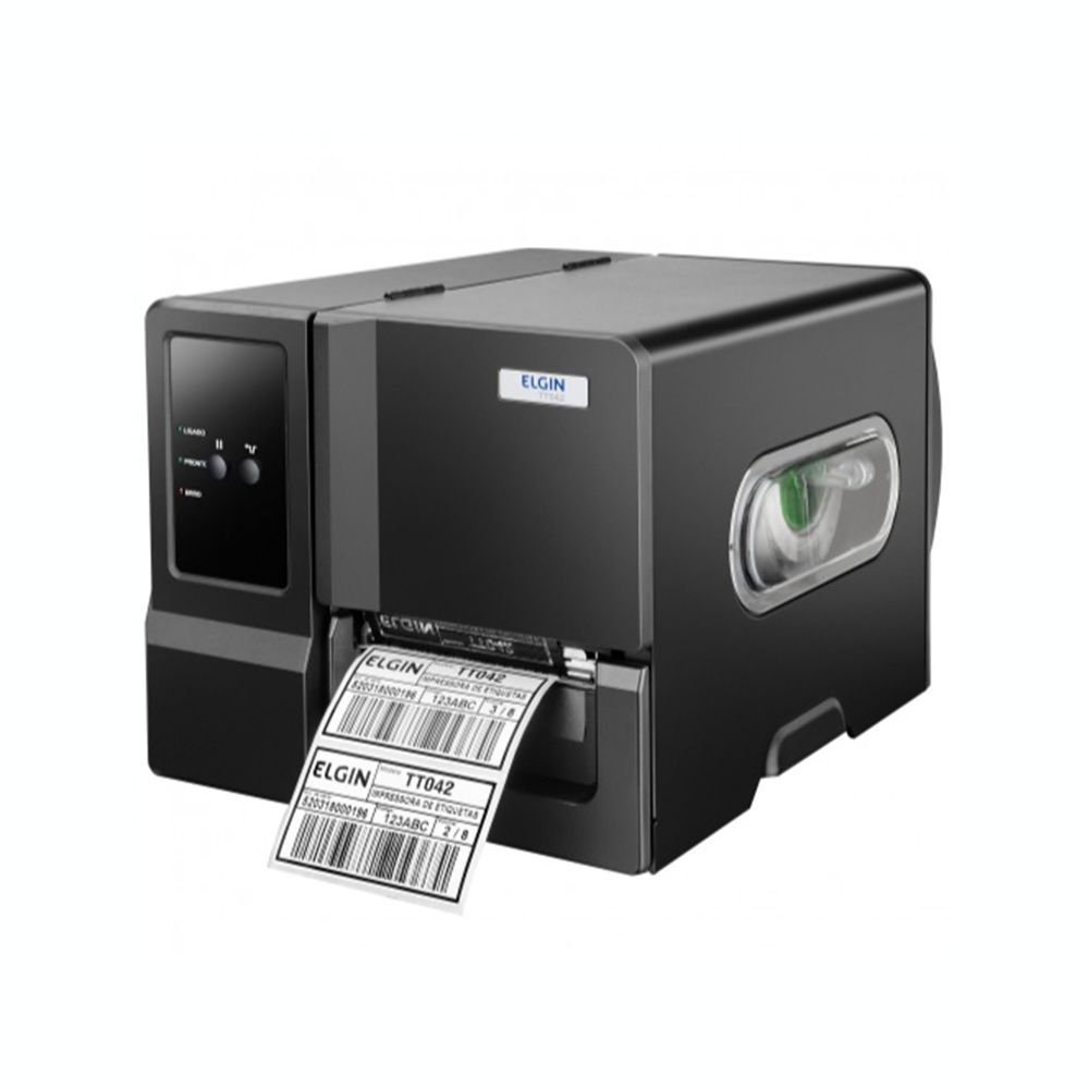 Impressora Térmica Etiqueta Elgin Tt042 Transferência Térmica Colorida Usb, Serial, Paralela e Ethernet Bivolt