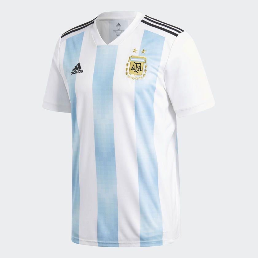 88a5b3c2ec35d Camisa Seleção Argentina Home 2018 s n° Torcedor Adidas Masculina - Branco. Camisa  Seleção Argentina ...