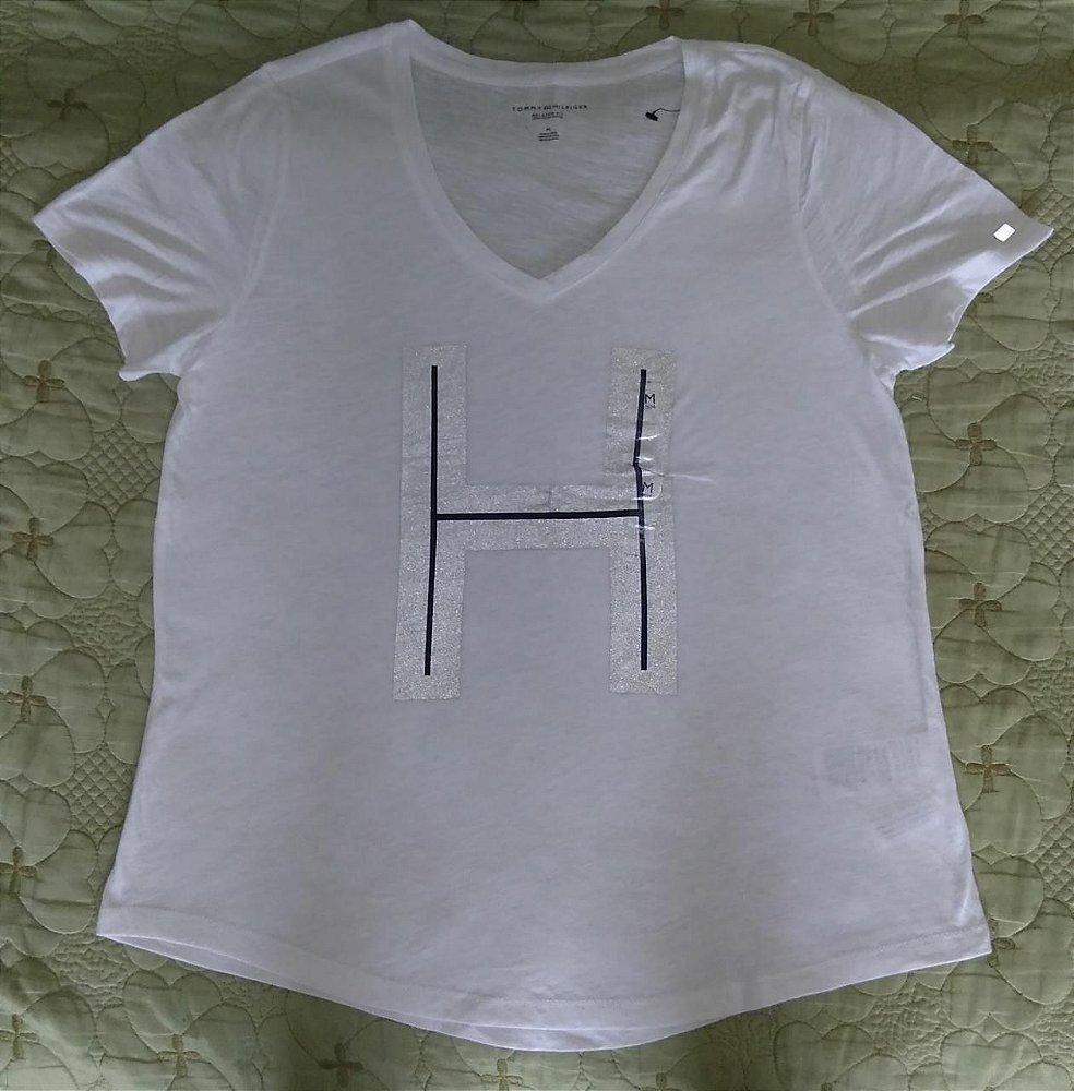 Blusa Feminina branca Tam M - Tommy Hilfiger - Sacada Importados ... 93ec714e8fc50