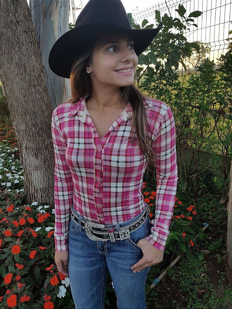a1d39bf122 Camisa Body Country Feminino Cowgirl Manga Longa Estampados Modelos  Exclusivos Flores Floral Listrado ...