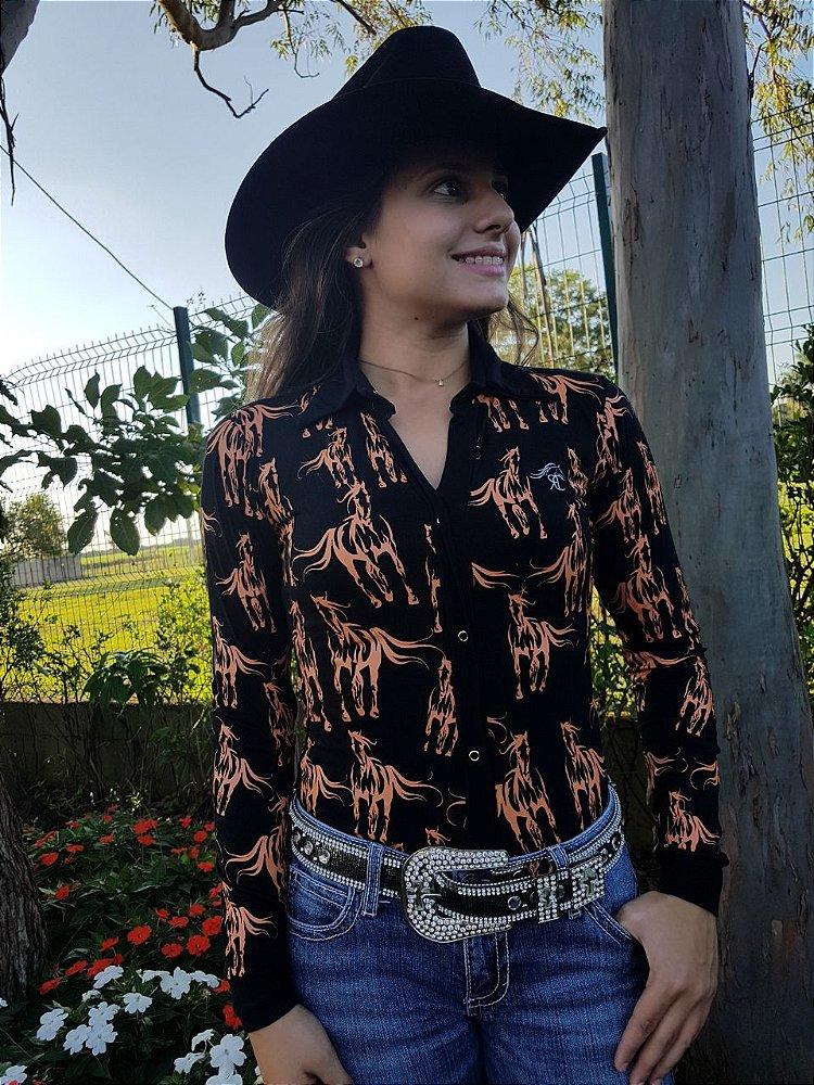 2647d9e58d Camisa Body Country Feminino Cowgirl Manga Longa Estampados Modelos  Exclusivos Flores Floral Rosas ...